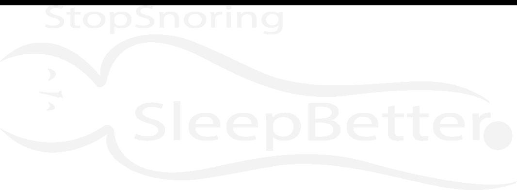 Stop Snoring, Sleep Better, Live Longer